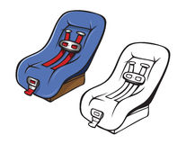 Safety seat coloring book Stock Photo