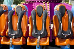 Safety Seats in Amusement Park Royalty Free Stock Photos