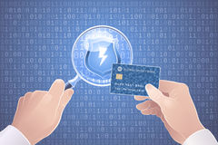 Safety/Secure Online Payments. Illustration on the subject of Cybersecurity Royalty Free Stock Photos