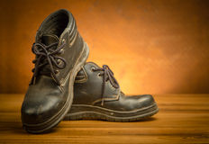 Safety shoes black color Royalty Free Stock Image