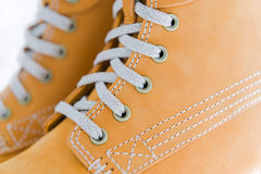 Safety shoes details Stock Image