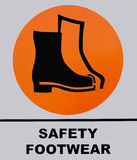 Safety shoes footwear sign isolated on white background Stock Images