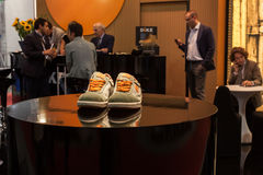 Safety shoes at Made expo 2013 in Milan, Italy Stock Image
