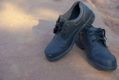 Safety shoes for use company Stock Images