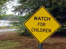 Safety Sign. Child a awareness sign stock photography