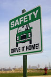 Safety sign Royalty Free Stock Images