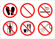 Safety sign. Collection in vector illustration design Stock Images