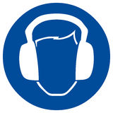 Safety sign ear protection Royalty Free Stock Photography