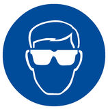 Safety sign eye protection. Illustration Royalty Free Stock Image