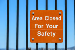 Safety sign Stock Photography