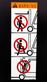 Safety sign for Forklift Stock Photos