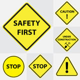 Safety sign group Stock Photo