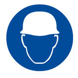 Safety sign head protection Royalty Free Stock Photo