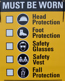 Safety sign Royalty Free Stock Photography