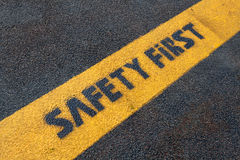 Safety sign on road Royalty Free Stock Photography