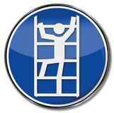 Safety sign use ladder safely Royalty Free Stock Photo