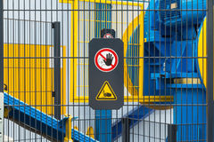 Safety sign Stock Photos