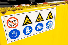 Safety signal. On yellow vehicle of road assistance royalty free stock images