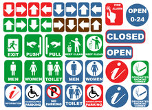 Safety signs vector illustration