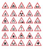 Safety signs. Vector illustration on white background Stock Photo