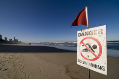 Safety Signs - Danger No Swimming Stock Image