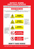 SAFETY SIGNS ENCLOSED SPACES Stock Image