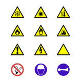 Safety signs and notices Royalty Free Stock Photo