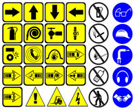 Safety signs set Royalty Free Stock Photo