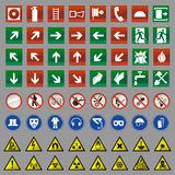 Safety signs Stock Image