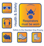 Safety signs Royalty Free Stock Images