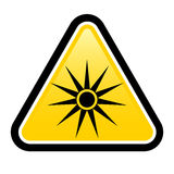 Safety signs warning triangle sign. Warning signs warning of laser warning sign Royalty Free Stock Image