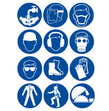 Safety signs at work stock illustration