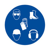 Safety signs at work Royalty Free Stock Photography