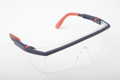 Safety spectacles. For worker with clear lenses Stock Photo