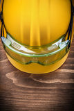 Safety spectacles and hard hat on wooden board construction conc Royalty Free Stock Photos