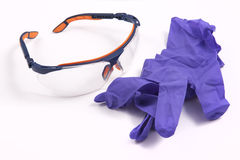 Safety Spectacles on White Background Stock Photography