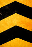 Safety stripes on construction site. Royalty Free Stock Images
