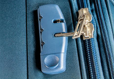 Safety suitcases with lock Royalty Free Stock Photo