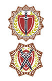 Safety symbol badge star Stock Photos