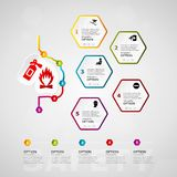 Safety timeline infographics. Design with five steps or options Stock Photos