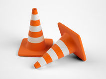 Safety traffic cone Royalty Free Stock Photos