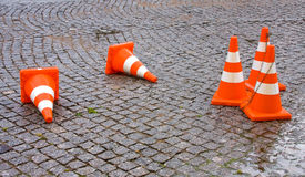 Safety Traffic Cones Royalty Free Stock Image