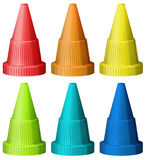 Safety traffic hats Royalty Free Stock Photo