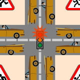 Safety traffic on the road Stock Photos