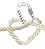 Safety Valentines day heart and rope Stock Images