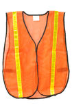 Safety vest isolated. Orange safety vest isolated on white Stock Image