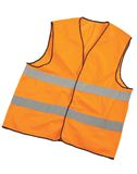 Safety vest isolated. Safety construction jacket on white background Stock Photography