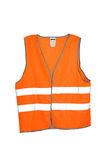 Safety vest. Orange safety vest isolated included clipping path Royalty Free Stock Photo