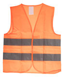 Safety Vest. With reflective stripes isolated over a white background Royalty Free Stock Image