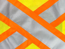 Safety vest reflective tape. In x cross Royalty Free Stock Image